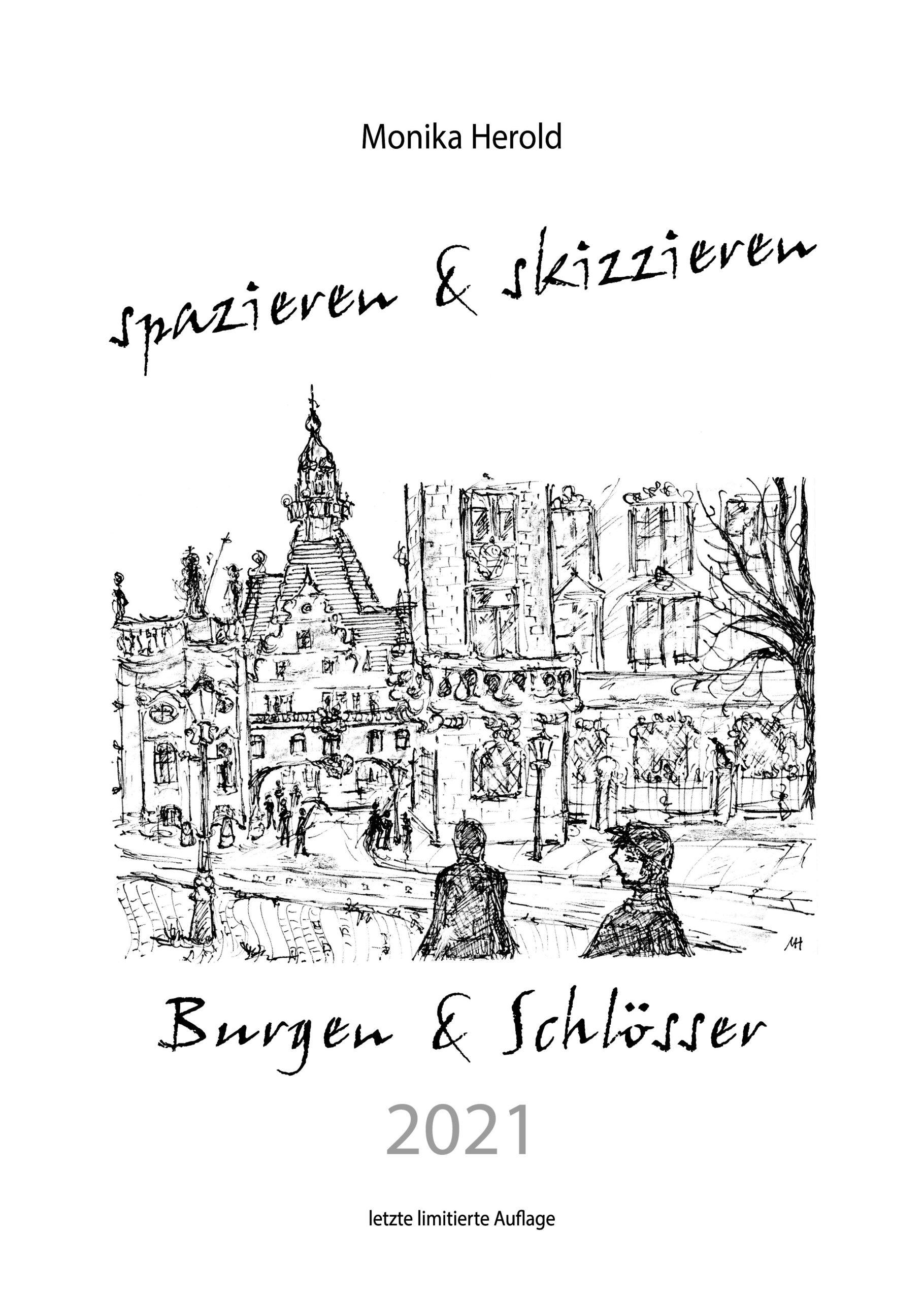Skizzenkalender 2021, Burgen & Schlösser, Sachsen, Dresden