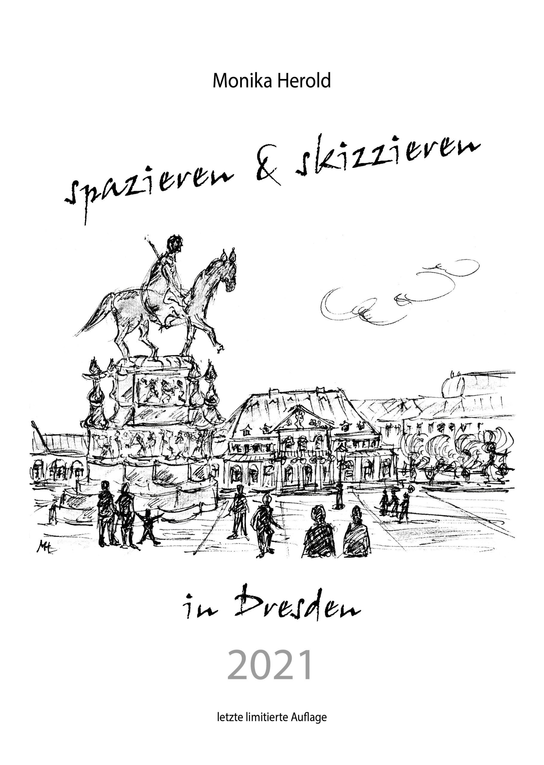 Skizzenkalender 2021, Dresden, Barock, Schwarzweiß, Kunst