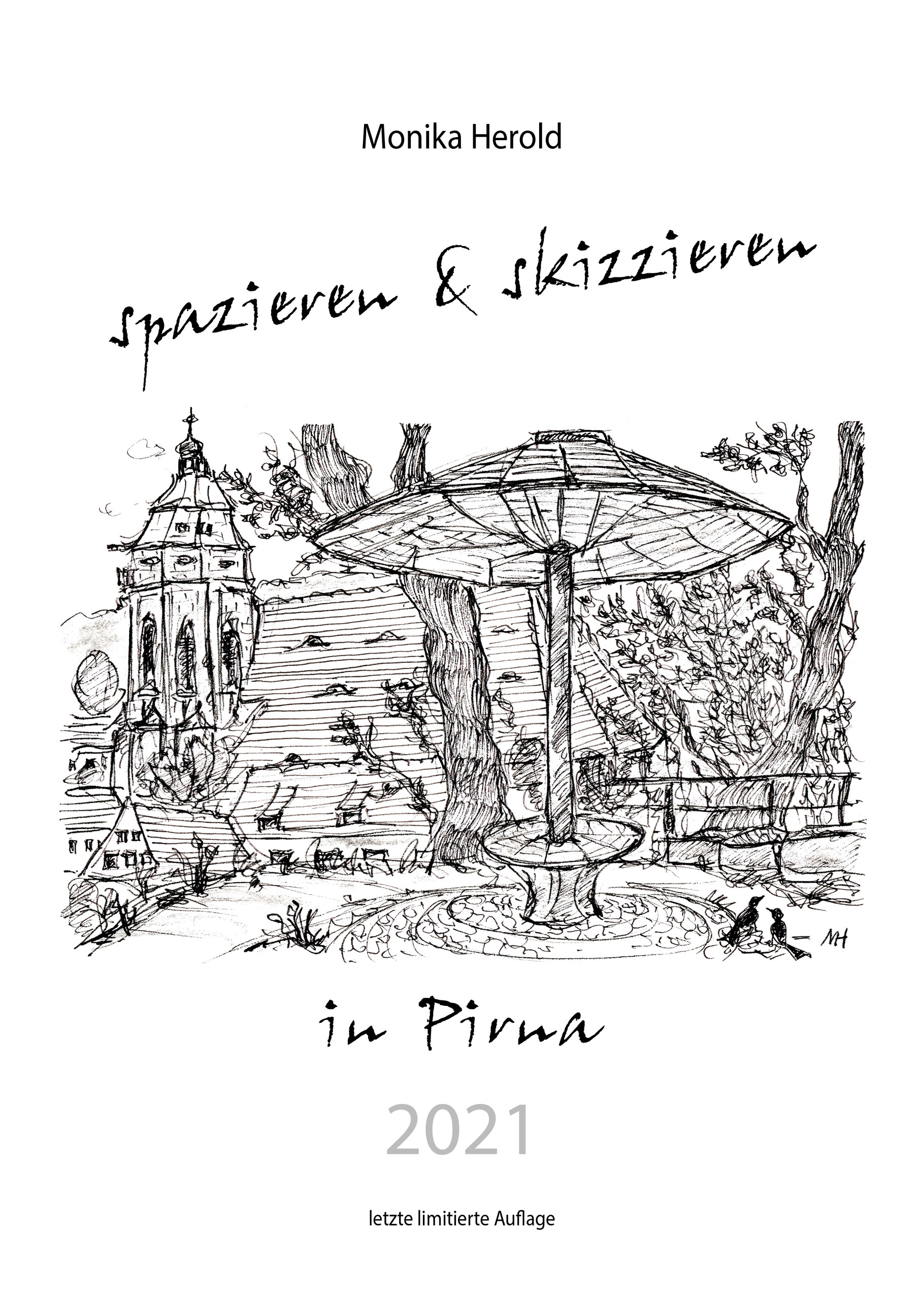 Skizzenkalender 2021, Pirna, Sandstein, St. Marien, Kunst, Tor zur Sächsischen Schweiz
