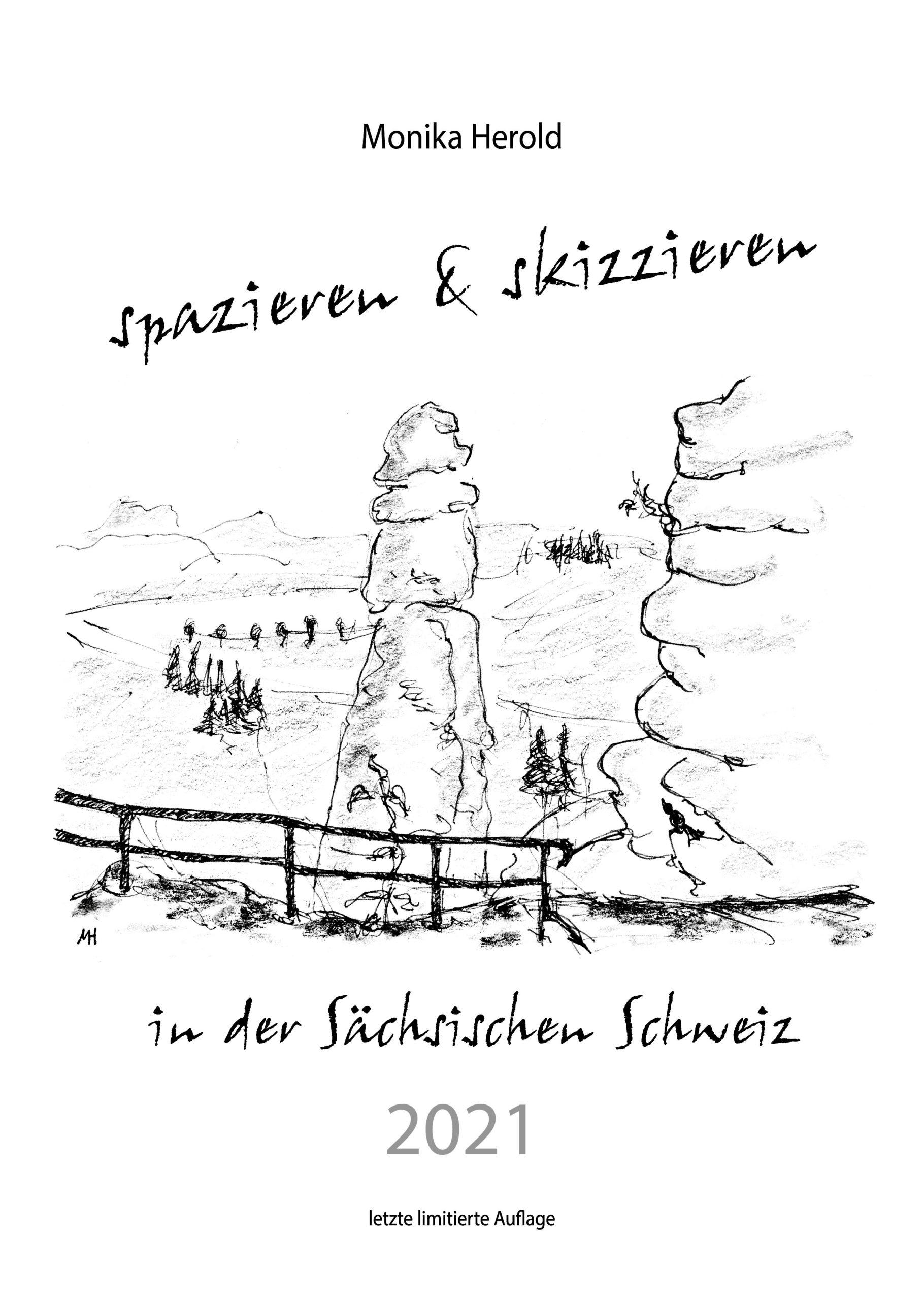 Skizzenkalender 2021, Sächsische Schweiz, Barbarine, Pfaffenstein, Königstein, Natur, Felsen, Sandstein, Elbe